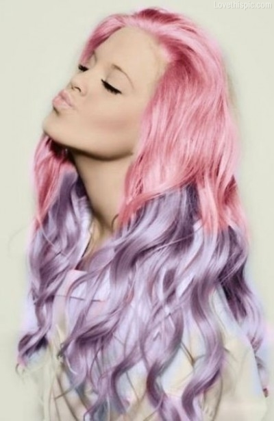 Pastel-Pink-And-Purple-Hair