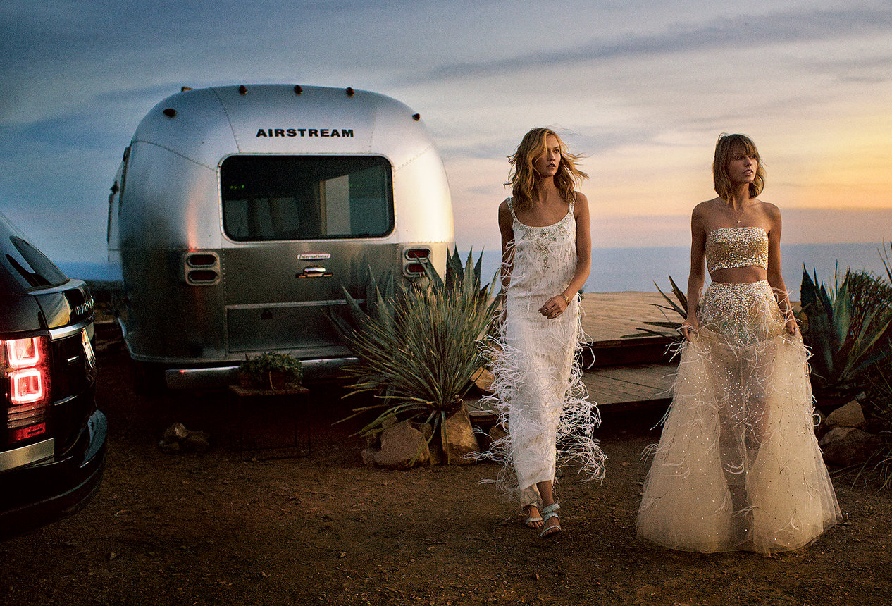 Karlie Kloss And Taylor Swift By Mikael Jansson For Us Vogue March 2015