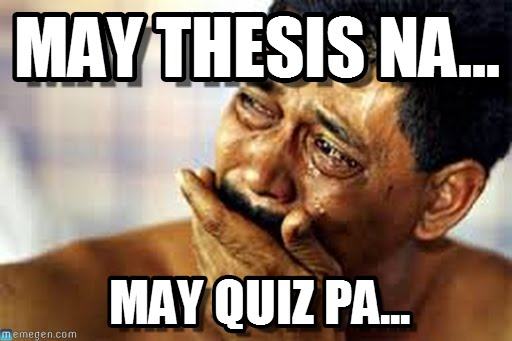 thesis week meme