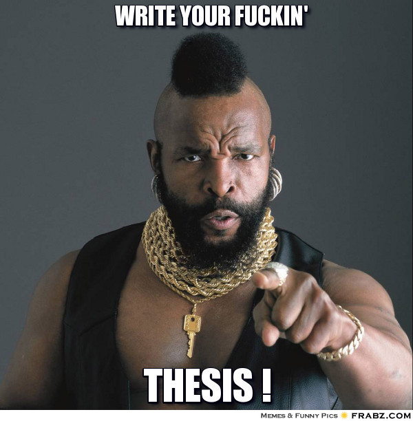 Write my thesis in a week